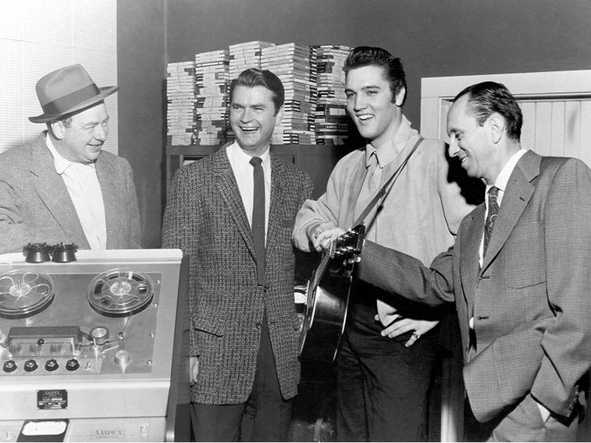 Image result for elvis presley signs with sun records pictures