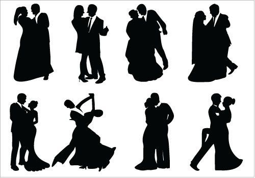 Silhouettes Google Search Dance Silhouette Bride And Groom Silhouette Wedding Silhouette