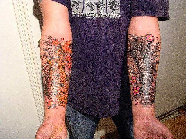 Koi Fish Tattoo Fish Tattoos Forearm Tattoos Unique Tattoos Awesome Koi Fish Tattoo Koi Fish Tattoo Forearm Koi Tattoo Design