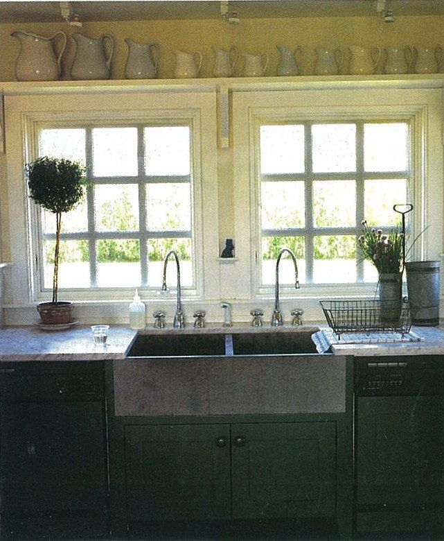 Peri Wolfman Kitchen Double Sink With Two Faucets The Two Faucets Seem Excessive But I Still Love It Kitchen Cottage Kitchens Bakers Table