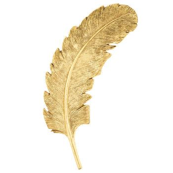 Large Gold Feather Resin Wall Decor~ for card holder | Client ...