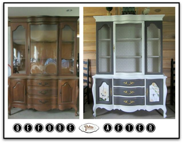 French Country Hutch Now Elegant With Pure U0026 Original Paint   Patina  Paradise