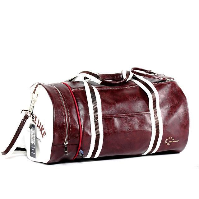 PU Barrel Unisex Gym Bag Fitness Training Shoulder Bag With Independent  Shoes Pocket Mixed Color Sports Bag Big Size 26cd6d26c2
