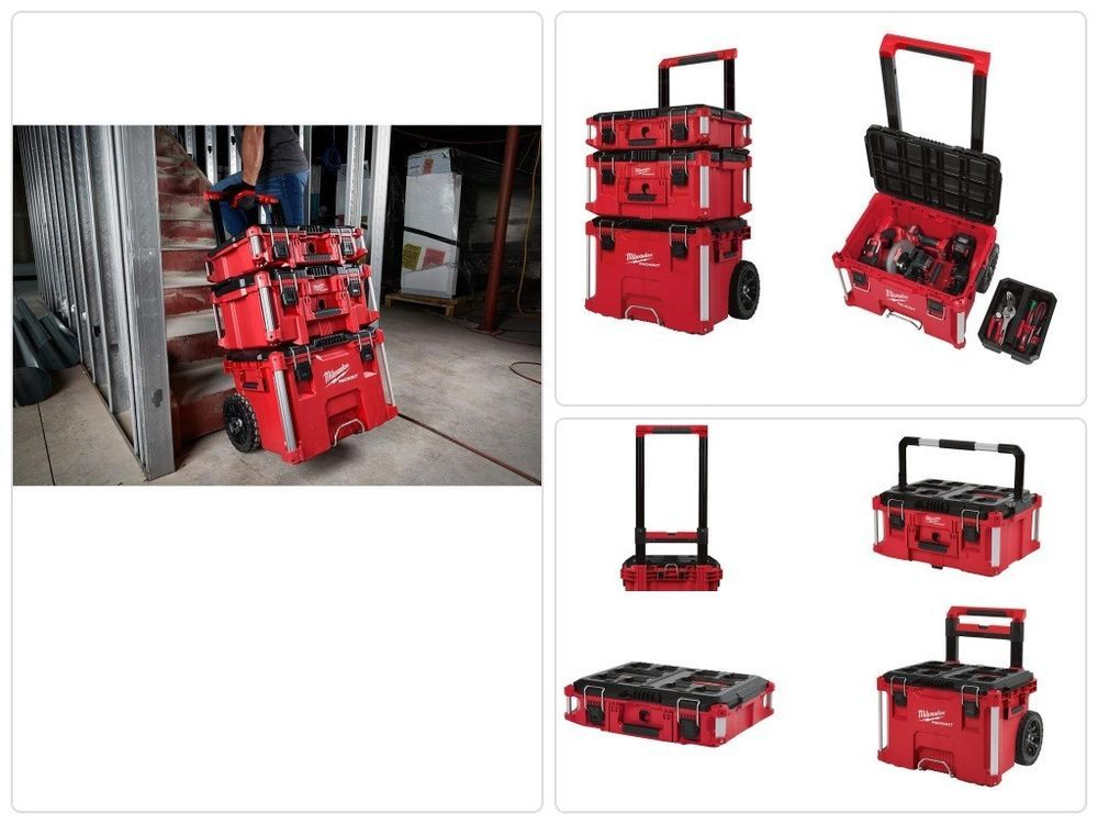 #Waterproof #Rolling #Toolbox #Modular #Tool #Box #Storage #System 22 In.  Stacking Cart