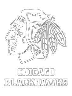 Chicago Blackhawks Logo coloring page | autumn | Pinterest | Chicago ...