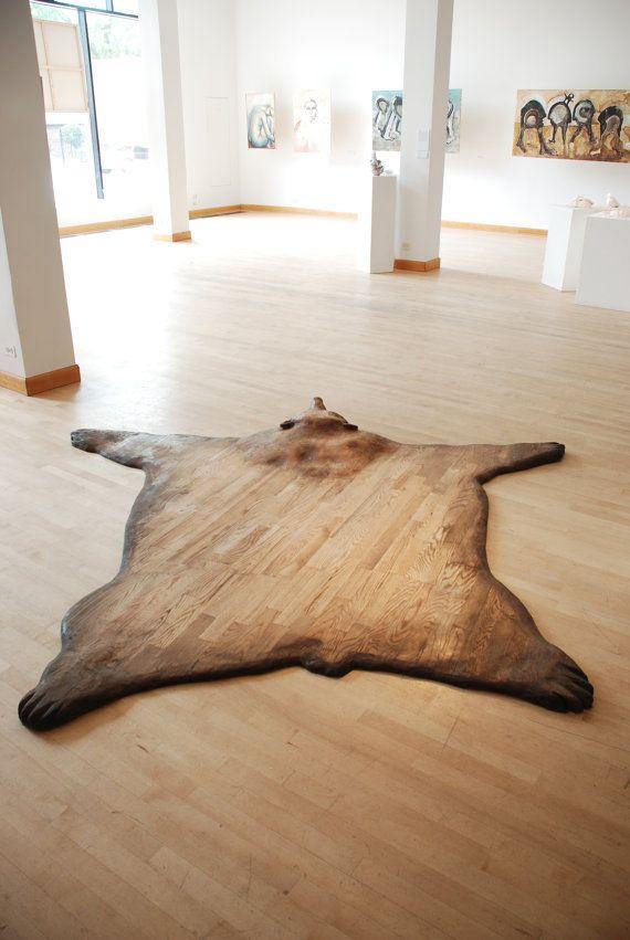 Wooden Bear Skin Rug Subsute В