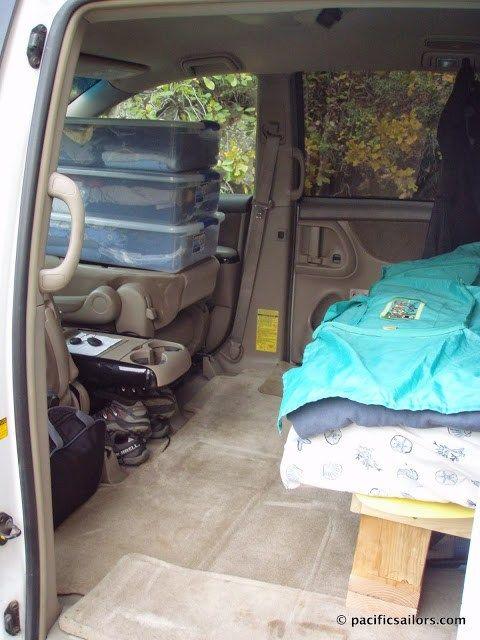 The Minivan Camper | Toyota sienna, Camper beds