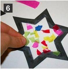 Bastelanleitung für Kinder: Stern - Schritt 6 #bricolagenoelenfantfacile