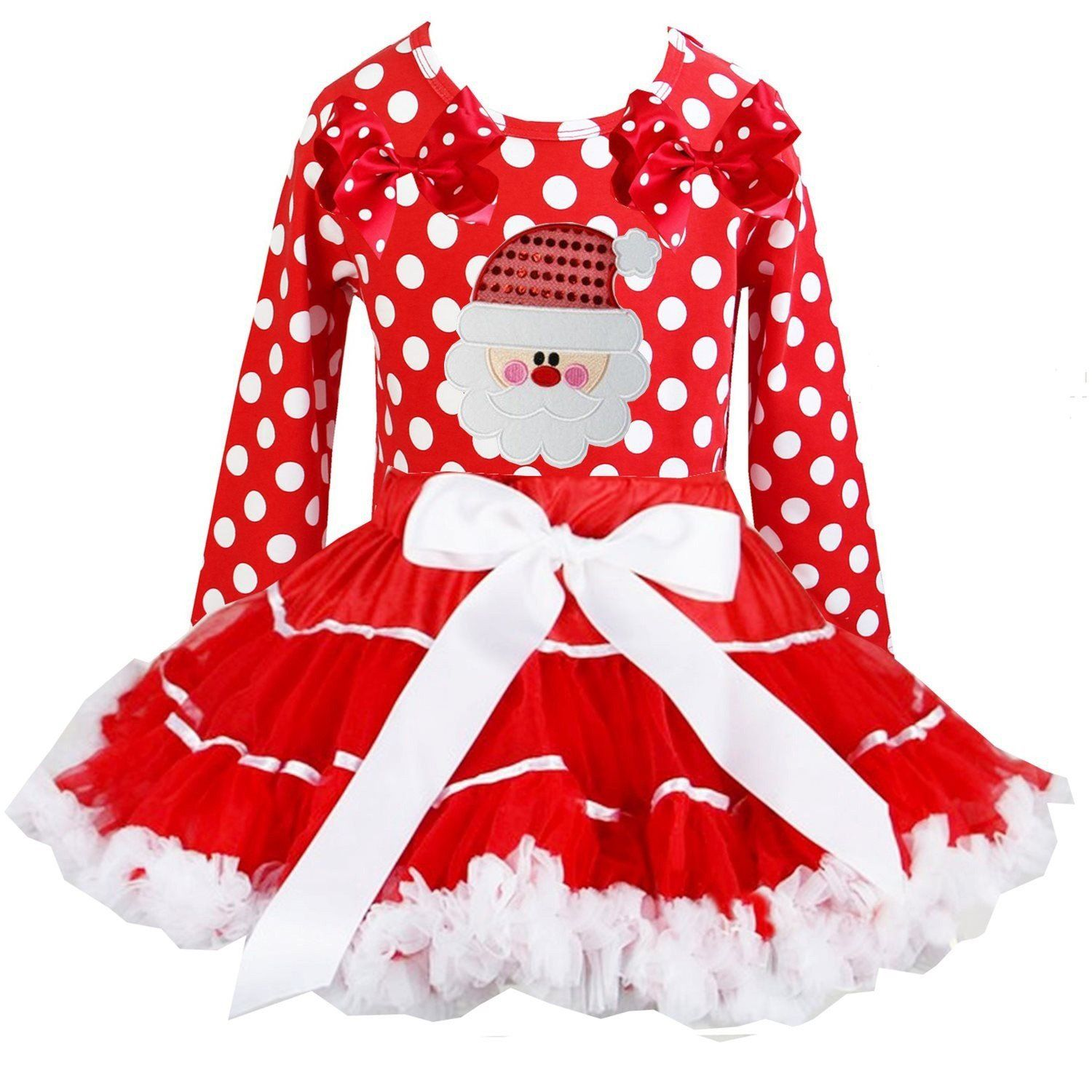 Kirei Sui Red White Satin Binding Pettiskirt & Xmas Santa