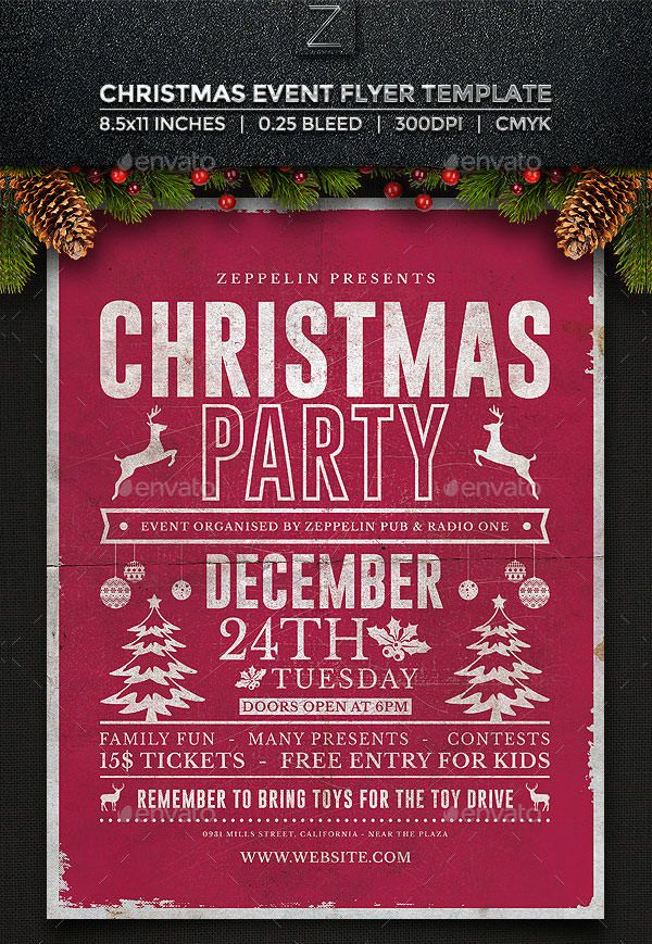 Christmas Flyer Templates  Free Psd Ai Illustrator Doc