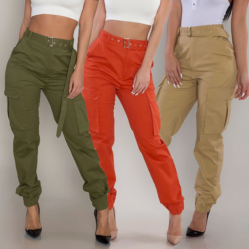 High Waist Multi Pocket Cargo Pants Rk Loveitbabe Green Cargo Pants Outfit Retro Trousers Pants Outfit Casual
