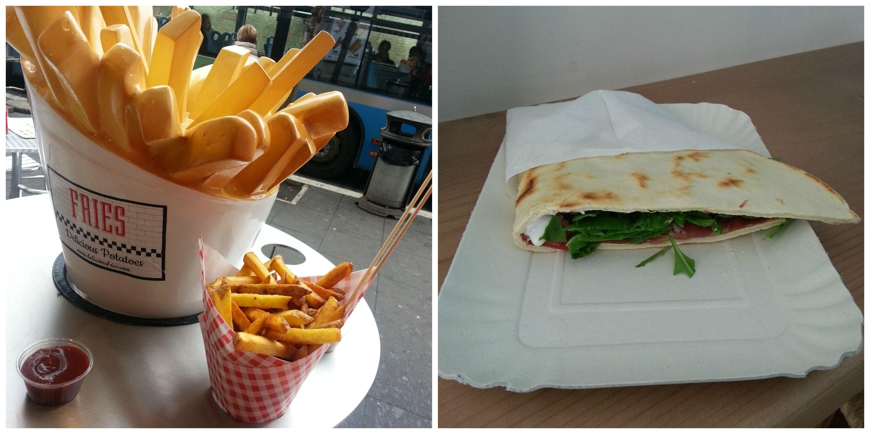 Fries e Piadineria Italiana: lanches baratos no Vaticano, de 5-7 euros com bebida
