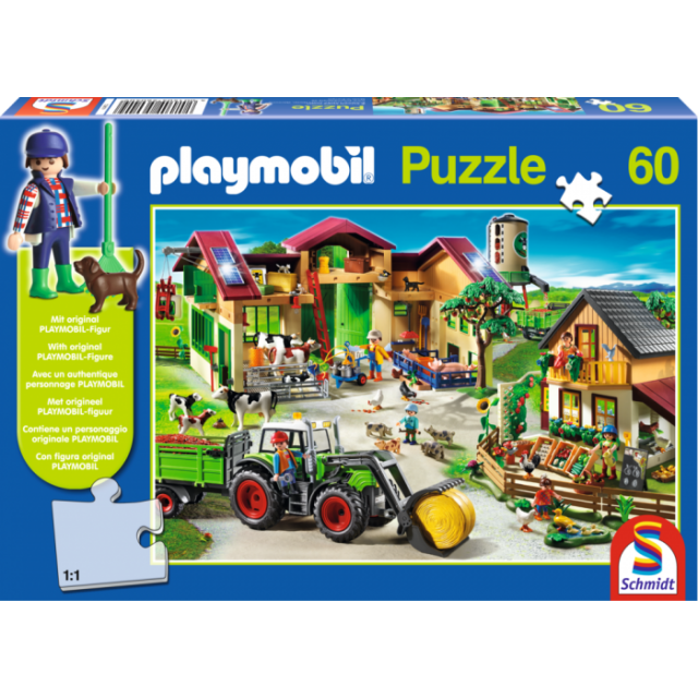 Playmobil On The Farm By Puzzle Master Backorder May Change At Any Time Click For Details Used For Misc Price 15 9 Toy Street Playmobil Puzzles For Kids
