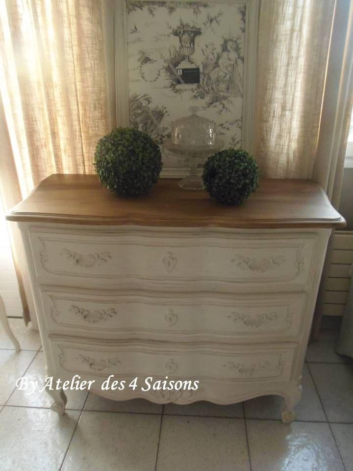 Par wwwatelierdes4saisons #Commode ancienne style Louis XV
