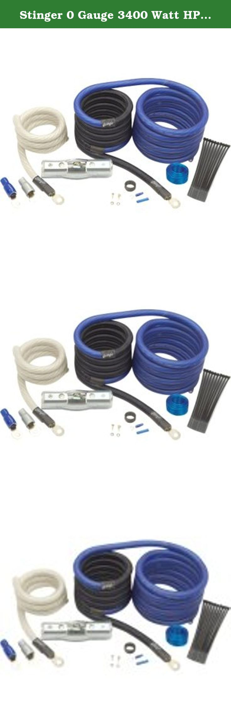 Stinger 0 Gauge 3400 Watt Hpm Power Amplifier Wiring Kit This Amp Installation Ofc Ebay Includes These Items