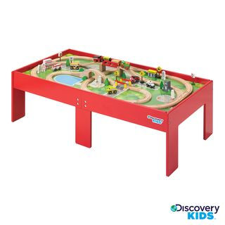 Overstock.com - Discovery Kids Wooden Table Train Set - This table ...