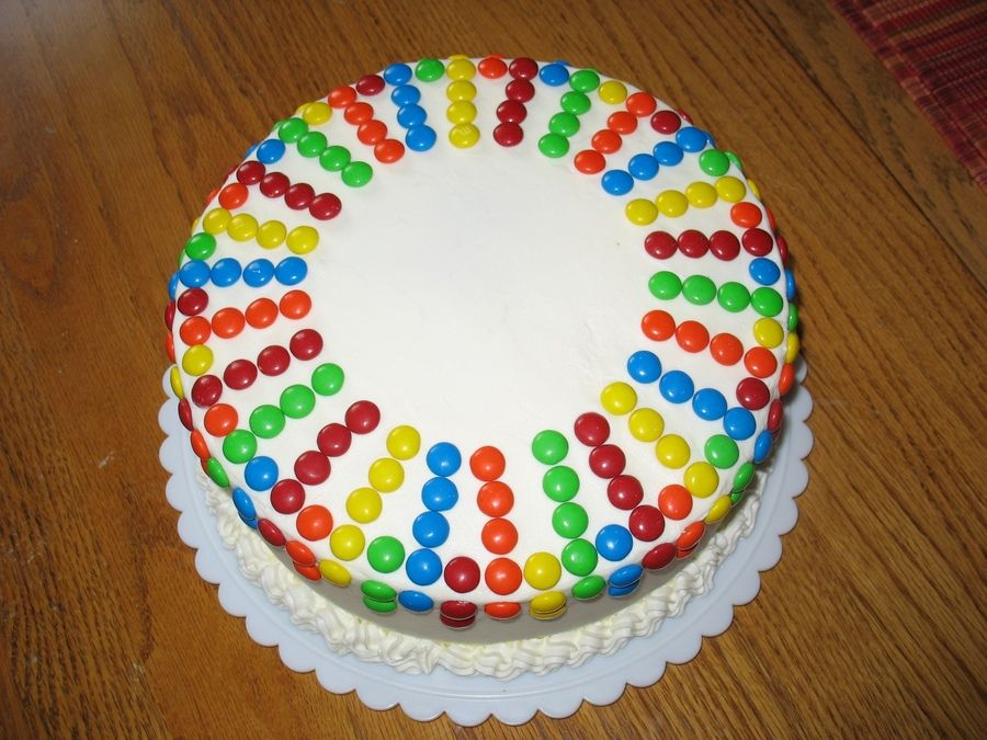 birthday cake m&ms cake with chocolate bavarian cream ...