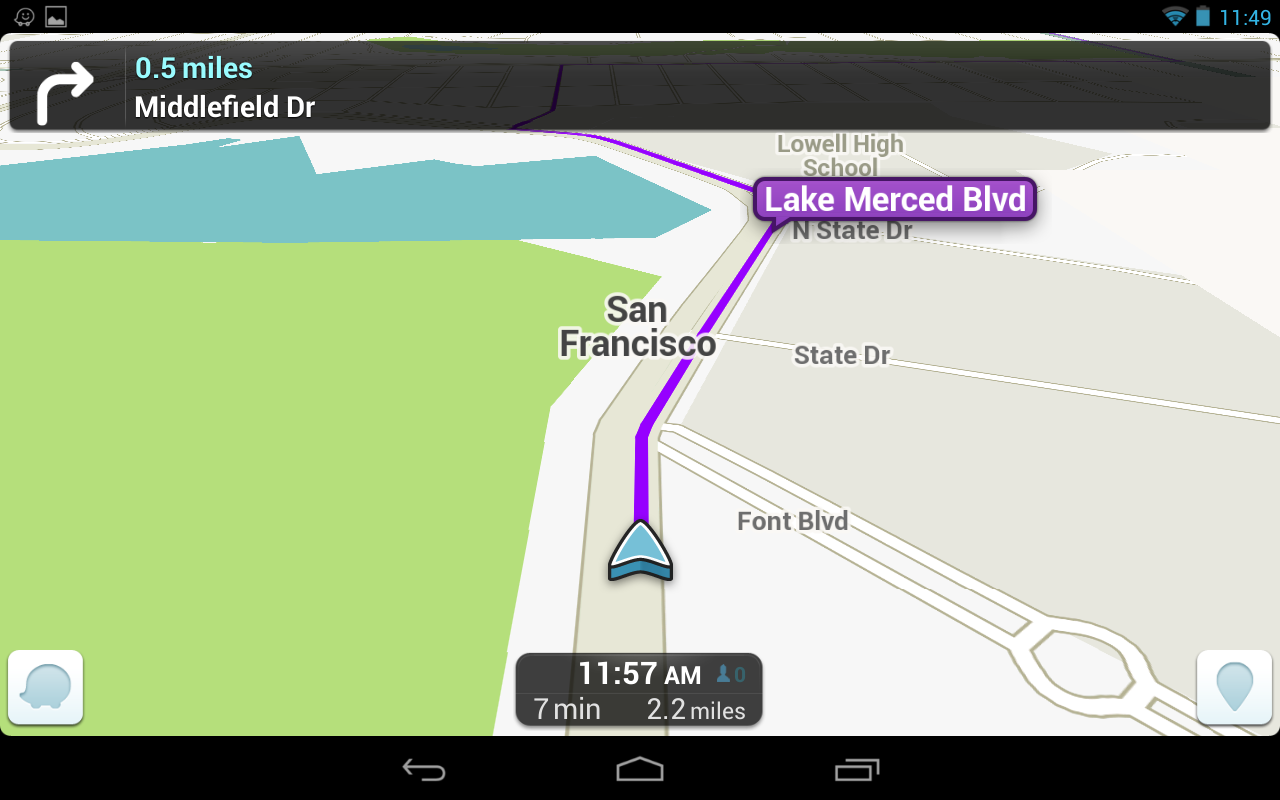 Waze Social GPS Maps & Traffic free v 3.7.2.0 apk download