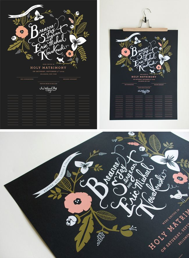 rifle paper co. marriage certificate