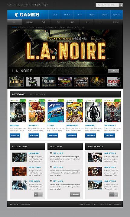 Template 41671 Games Portal Website Template Web