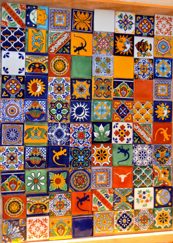 100 azulejos Talavera pintadas a mano 2 X 2 por MexicanTiles …