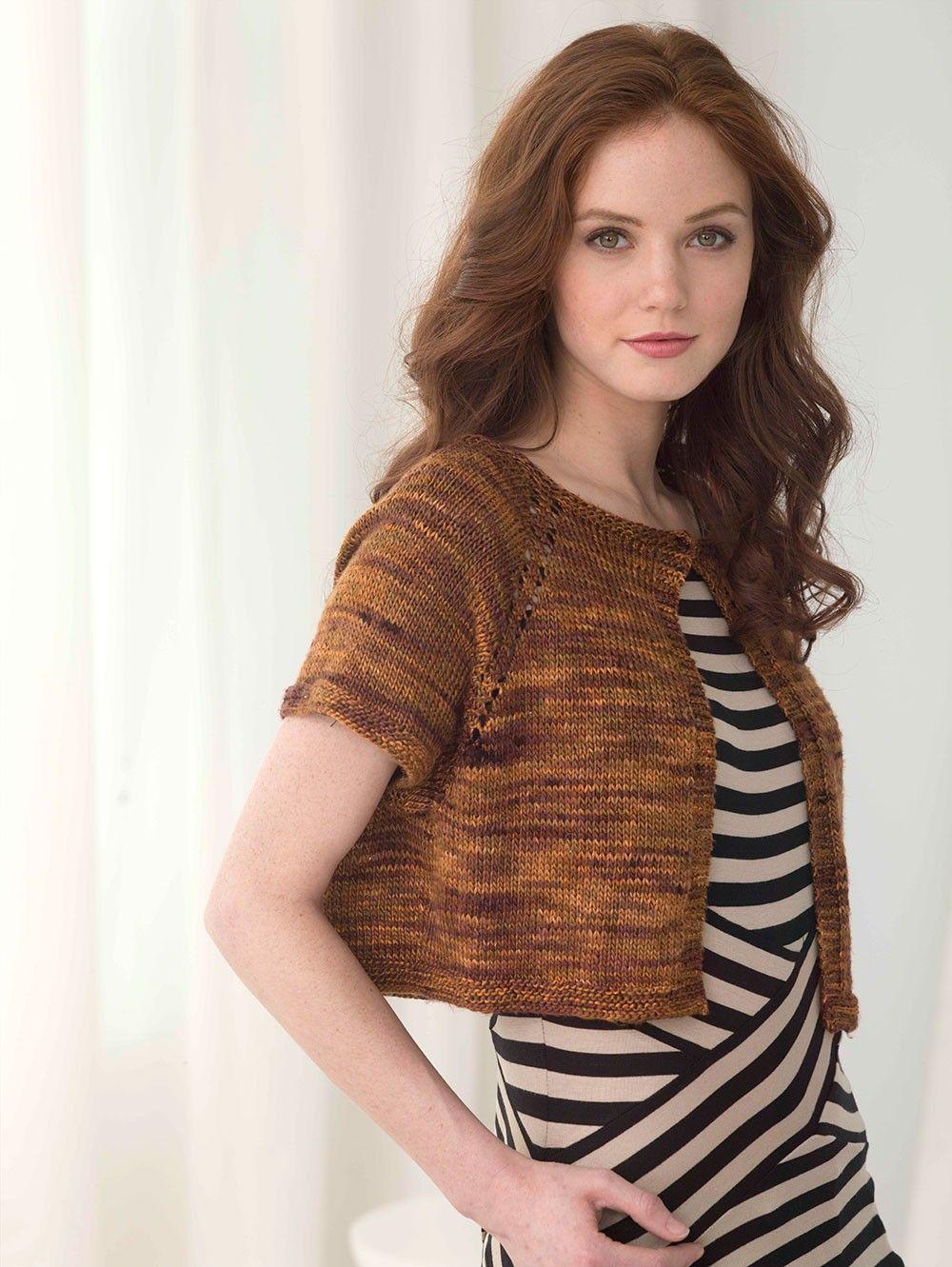 Simply Elegant Bolero Pattern (Knit) | Bolero pattern ...