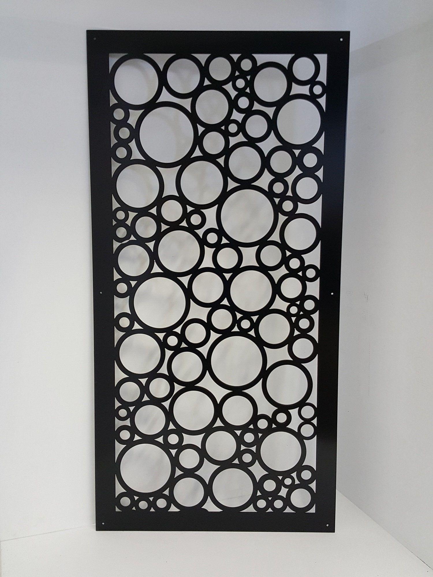 CIRCLE9 - Metal Privacy Screen Decorative Panel Garden Decor Art