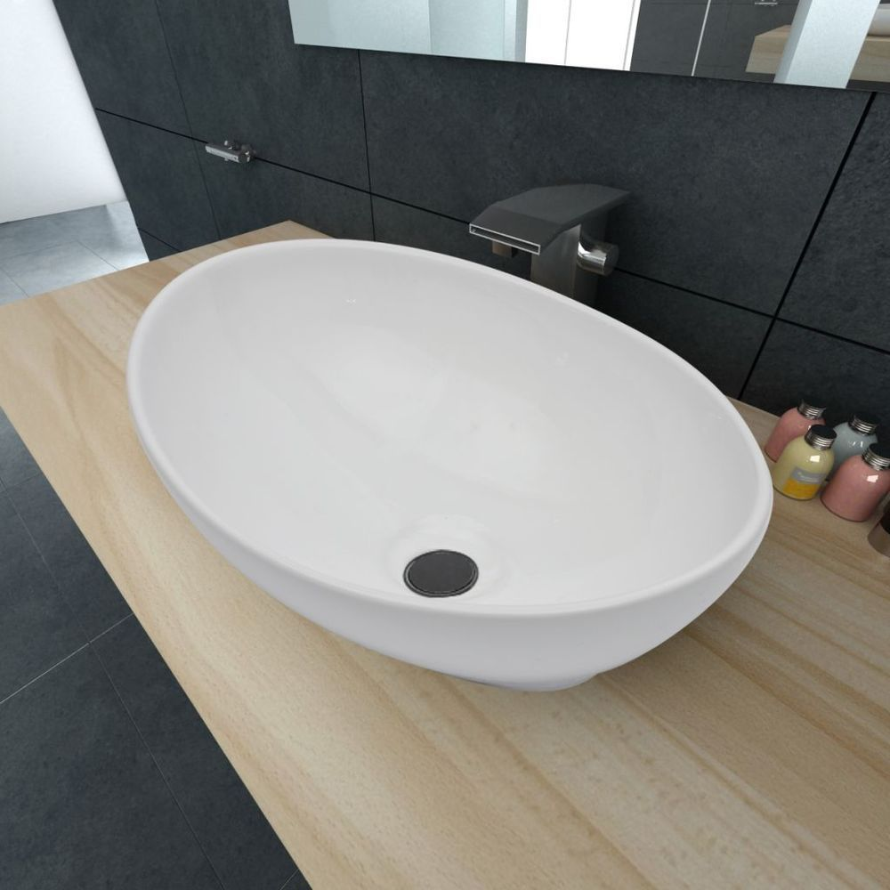 vanity unit with bowl sink. Ceramic Wash Basin Bathroom Vanity Unit Oval Bowl White Sink Counter Top  40x33cm in Home