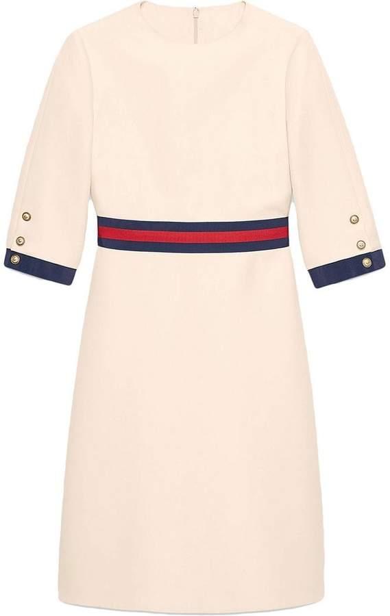 13ab481e583 Gucci Wool silk Web dress | Products in 2019 | Dresses, Silk shorts ...