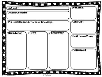 Common Core Lesson Plan Template Thumbnail Common Core - Otes lesson plan template
