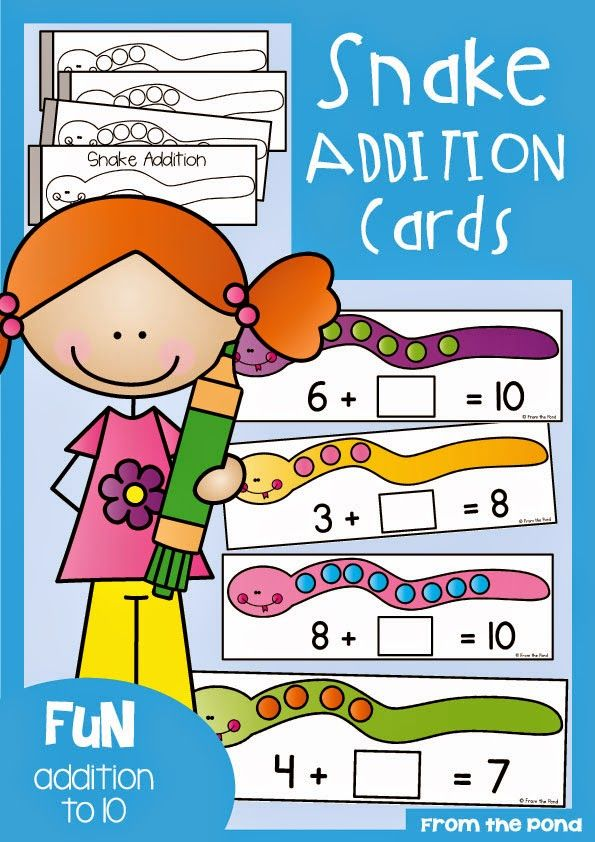 Frog Spot: Snake Addition and Friends of Ten Freebie | Schule Ge ...