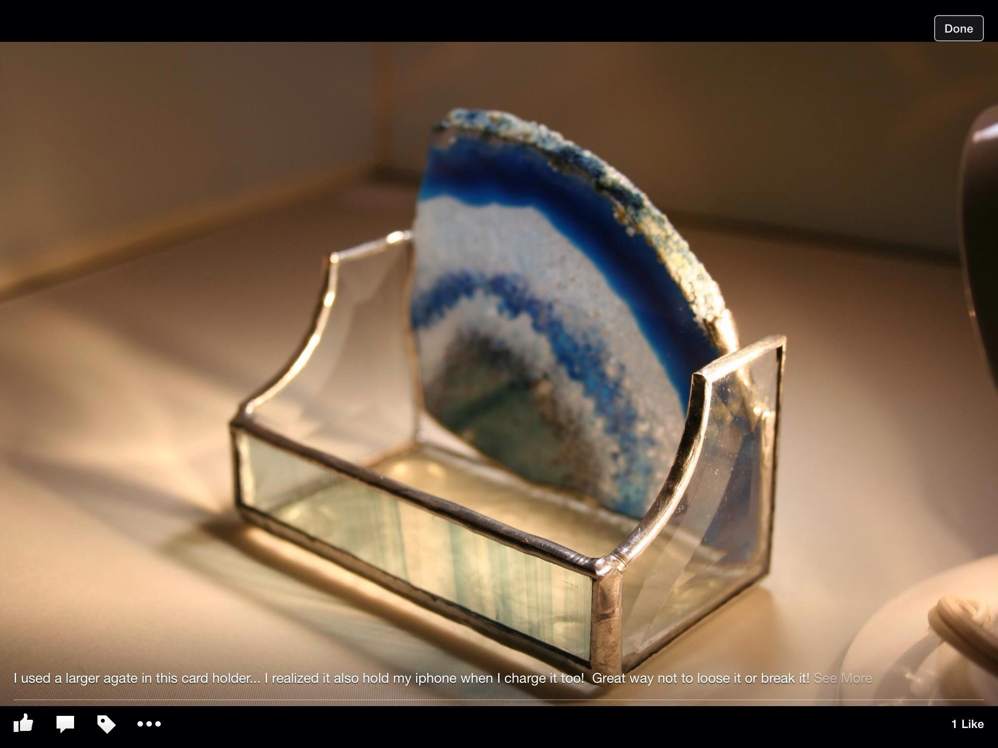 Agate Business Card Holder - Delphi Artist Gallery | Stained Glass ...