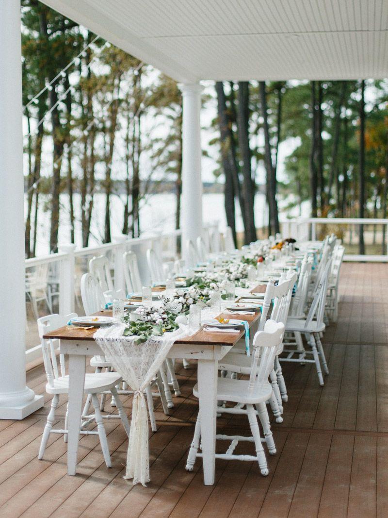 film photos of backyard intimate wedding on the chesapeake bay in ...