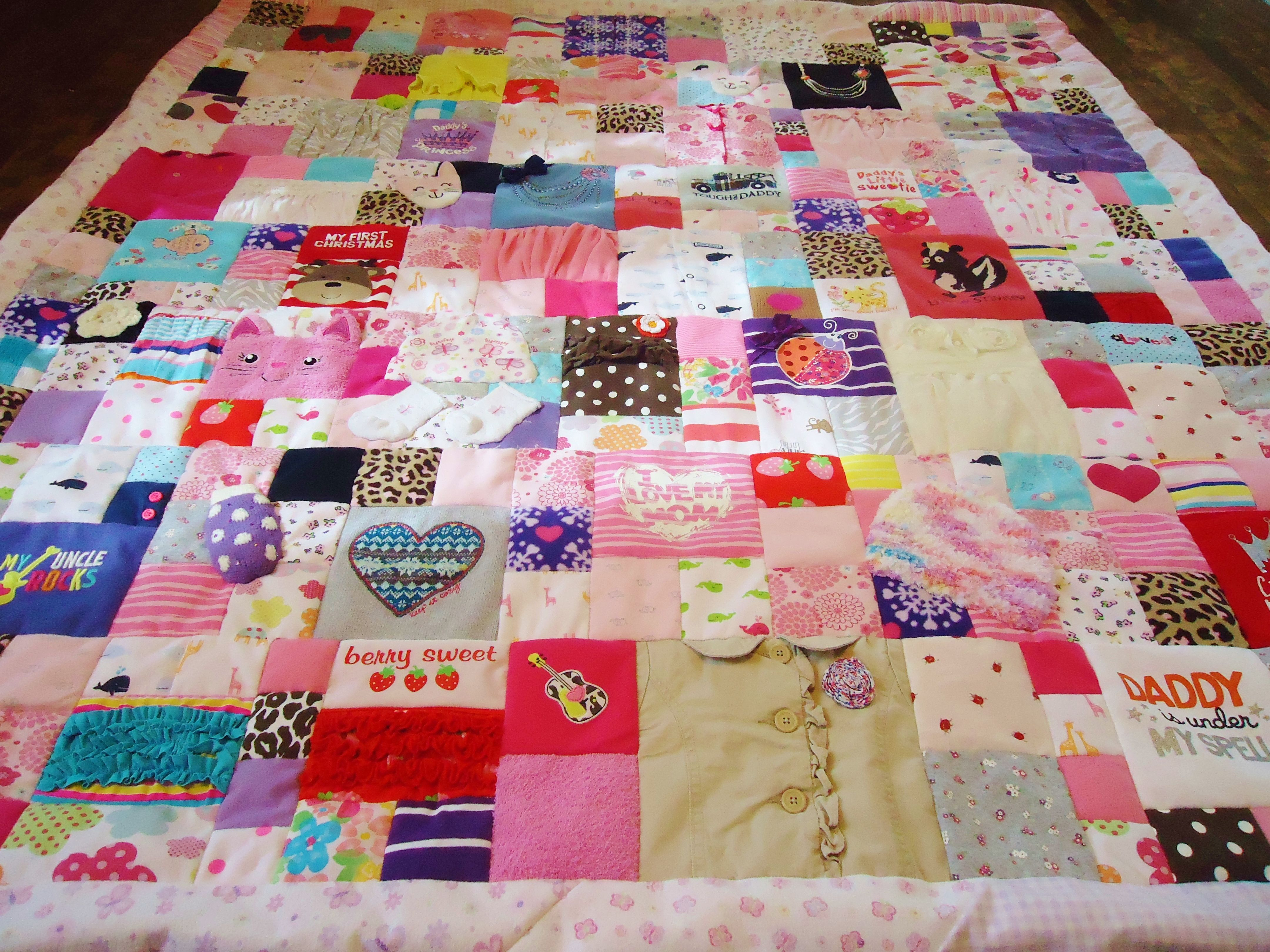 Baby clothes quilt by Lux Keepsake Quilts | Lux Keepsake Quilts ... : keep sake quilting - Adamdwight.com