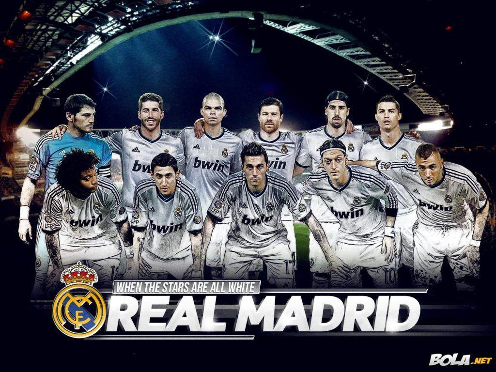 Real Madrid Team Squad 2013 2014 Wallpaper Hd Fondos Del Real Madrid Real Madrid Cake Real Madrid