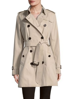BURBERRY Belted Cotton Double-Breasted Coat. #burberry #cloth #