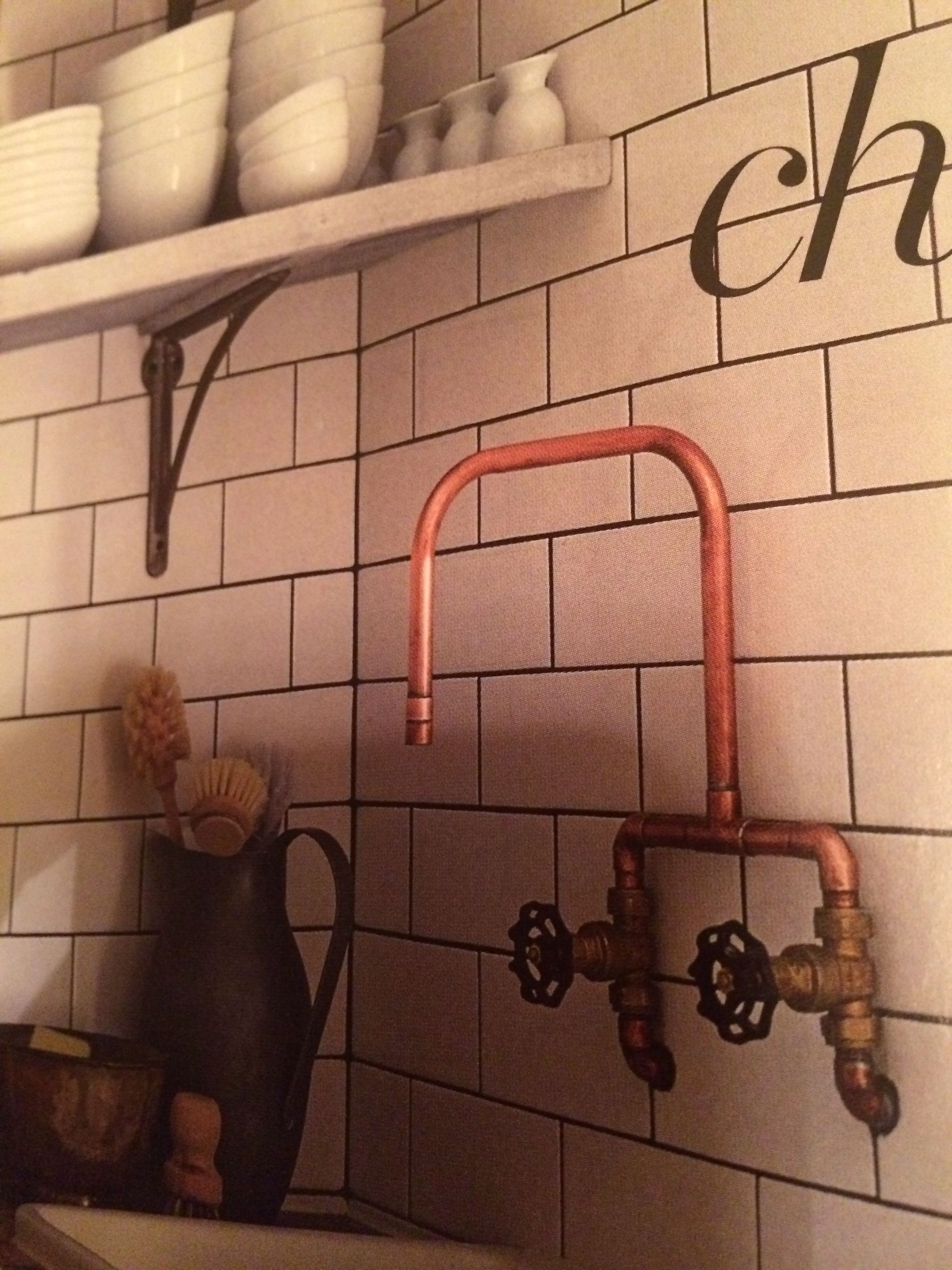 Copper pipe tap - rustic and interesting. www.middleton-bespoke.co ...