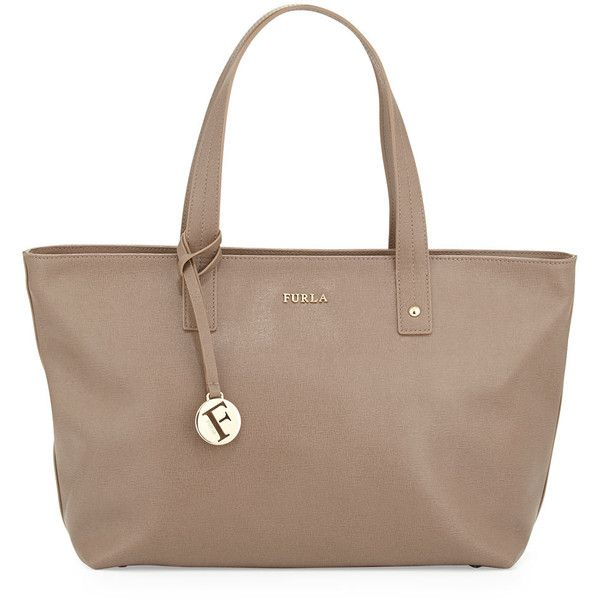 Furla Daisy Medium Leather Tote Bag (10.000 RUB) ❤ liked on Polyvore featuring bags, handbags, tote bags, color dain, furla tote, leather handbags, leather zip tote, brown leather purse and zippered tote