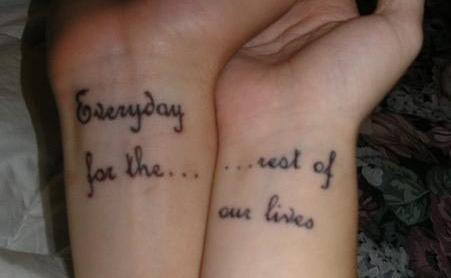 couple tattoo tattoos tatouage tatouage couple tatouage compl mentaire. Black Bedroom Furniture Sets. Home Design Ideas