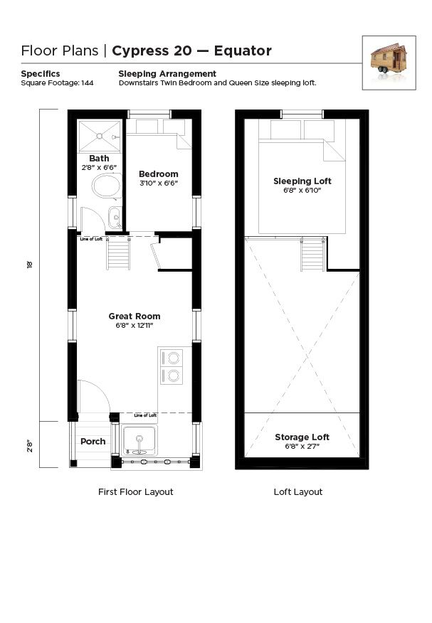 Tumbleweed Tiny House Floor Plans: Tiny Houses On Wheels In 2019