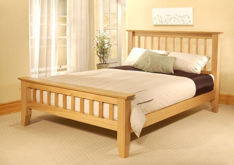 Bedroom Unique Wooden Bed Frame Large And Very Simple From Wooden