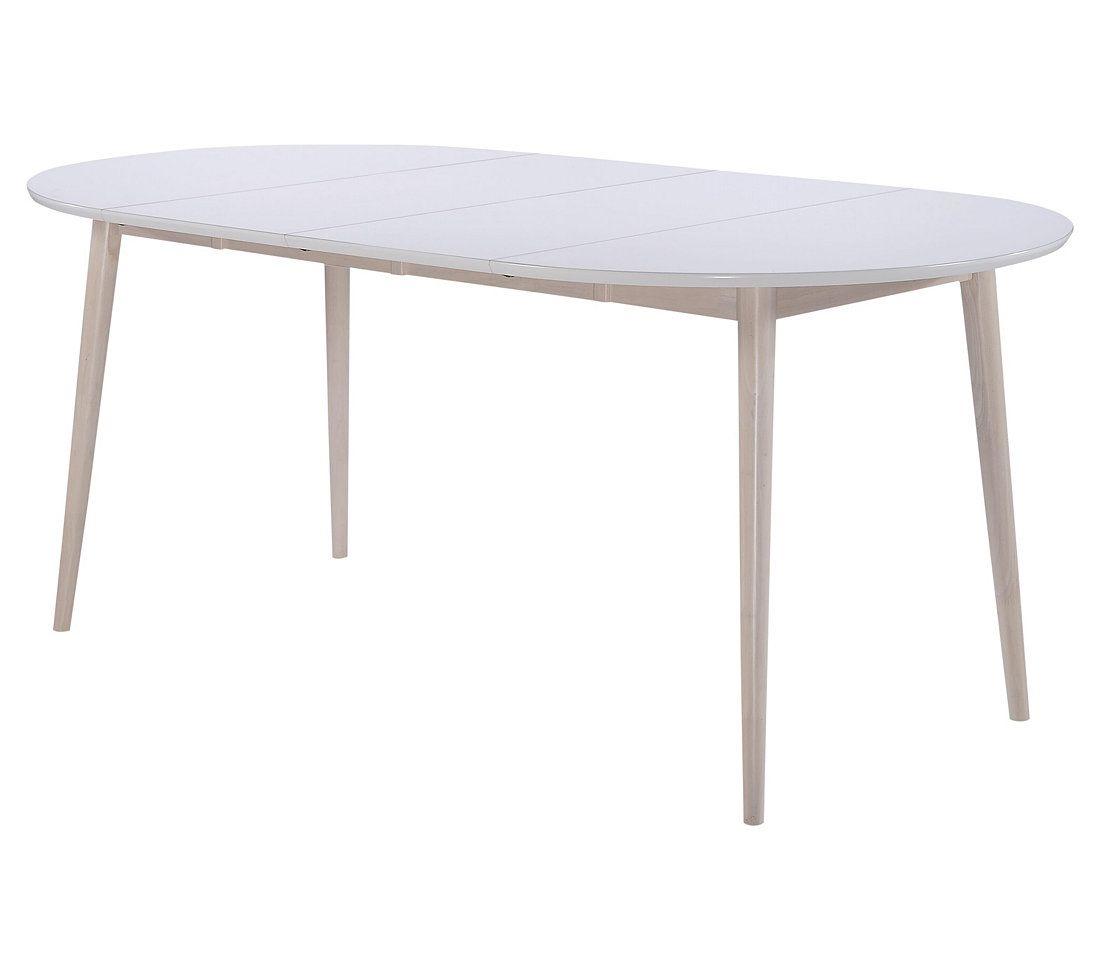 Table Ronde 2 Extensions Malena Scandinave Bois Et Blanc