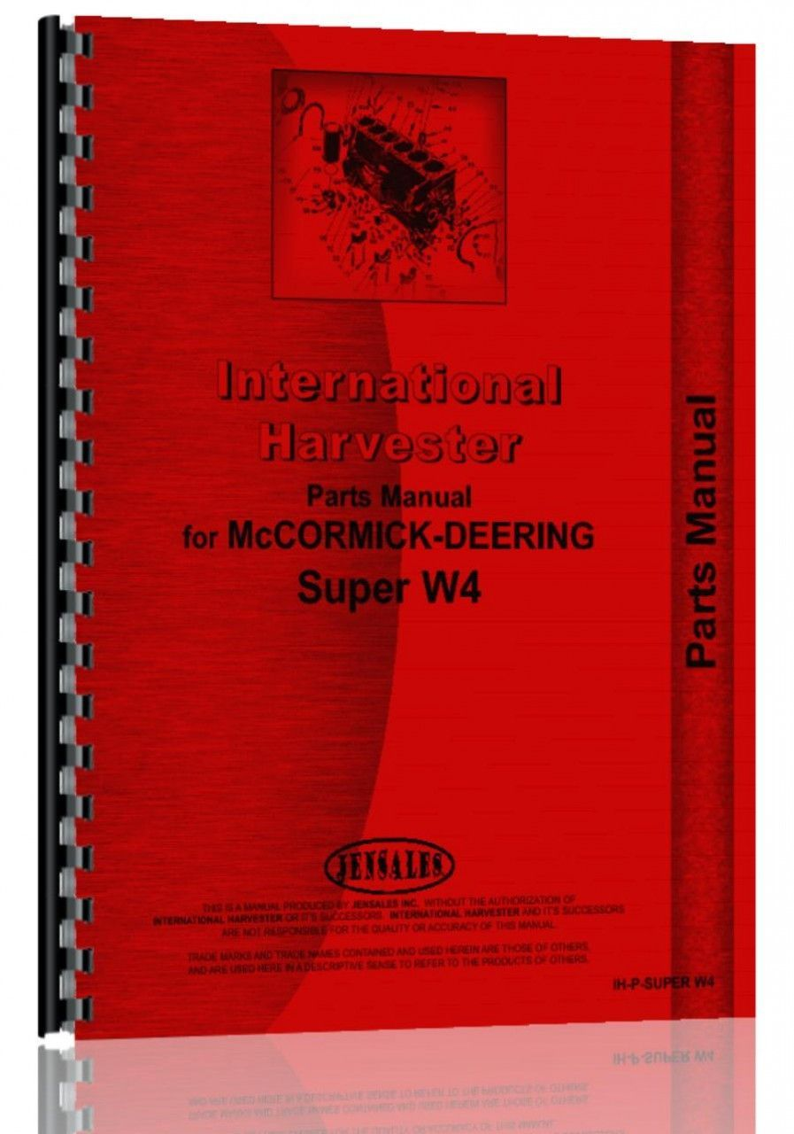 international b275 tractor cold start Array - mccormick deering w4 tractor  parts manual products pinterest rh pinterest com