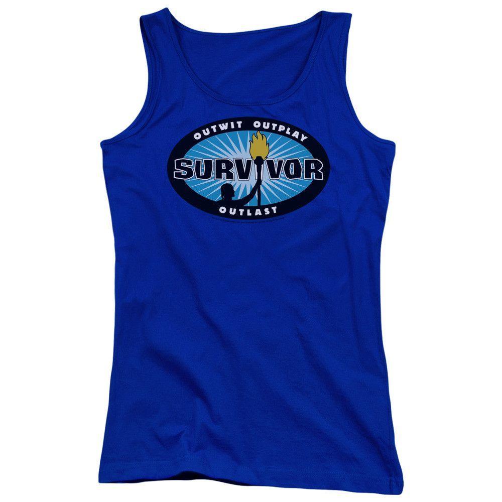 SURVIVOR/BLUE BURST - JUNIORS TANK TOP - ROYAL -