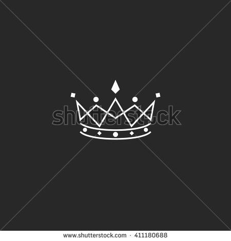 "Stock vektor ""Royal Symbol Icon Monogram Crown Logo"" (bez autorských poplatků) 411180688"