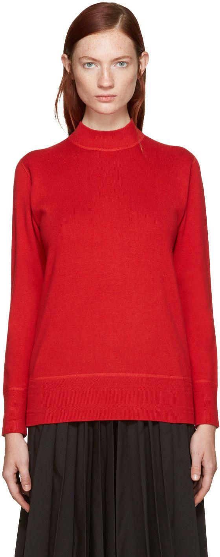 HYKE Red Mock Neck Sweater. #hyke #cloth #sweater | Hyke ...