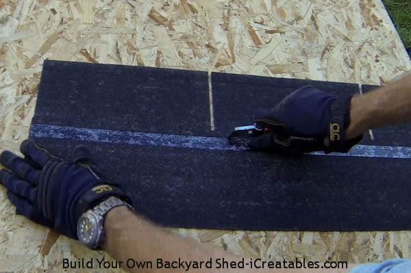 How To Install Asphalt Shingles Make Starter Strip From Shingles Roofing Roof Shingles Building A Shed