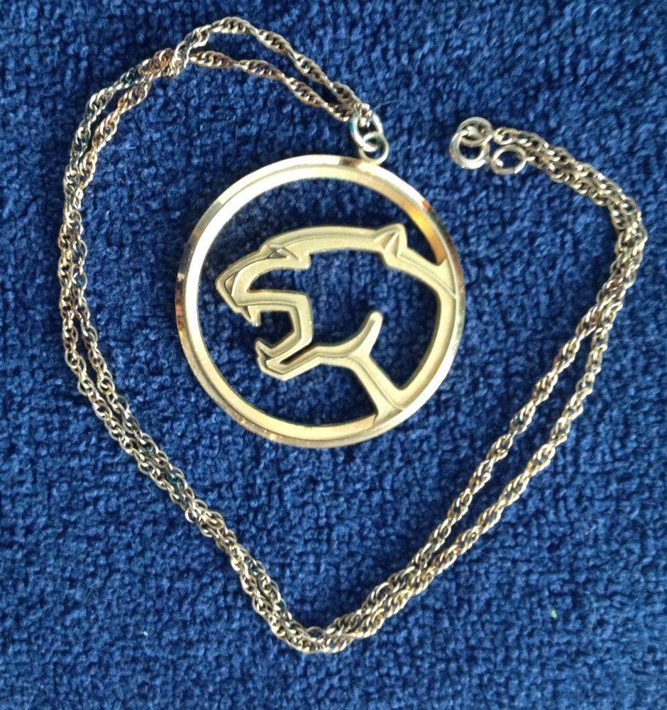 1970s Ford Lincoln Mercury Cougar Logo Necklace Favorite Places