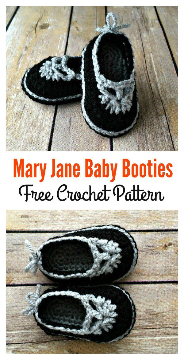 Crochet Baby Mary Jane Booties Free Patterns Baby Booties Mary