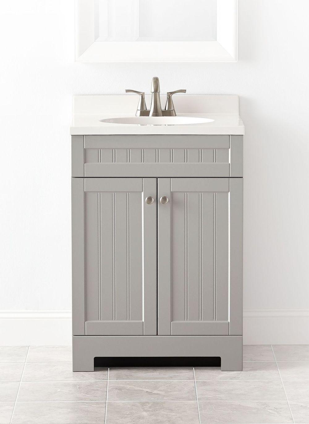 Style Selections Ellenbee 24.5-in Gray Single Sink ...